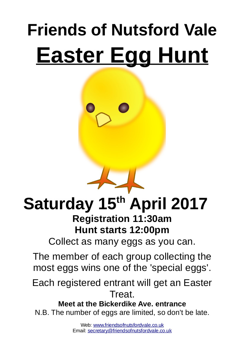 Free – Easter Egg Hunt on Saturday 15th April 2017